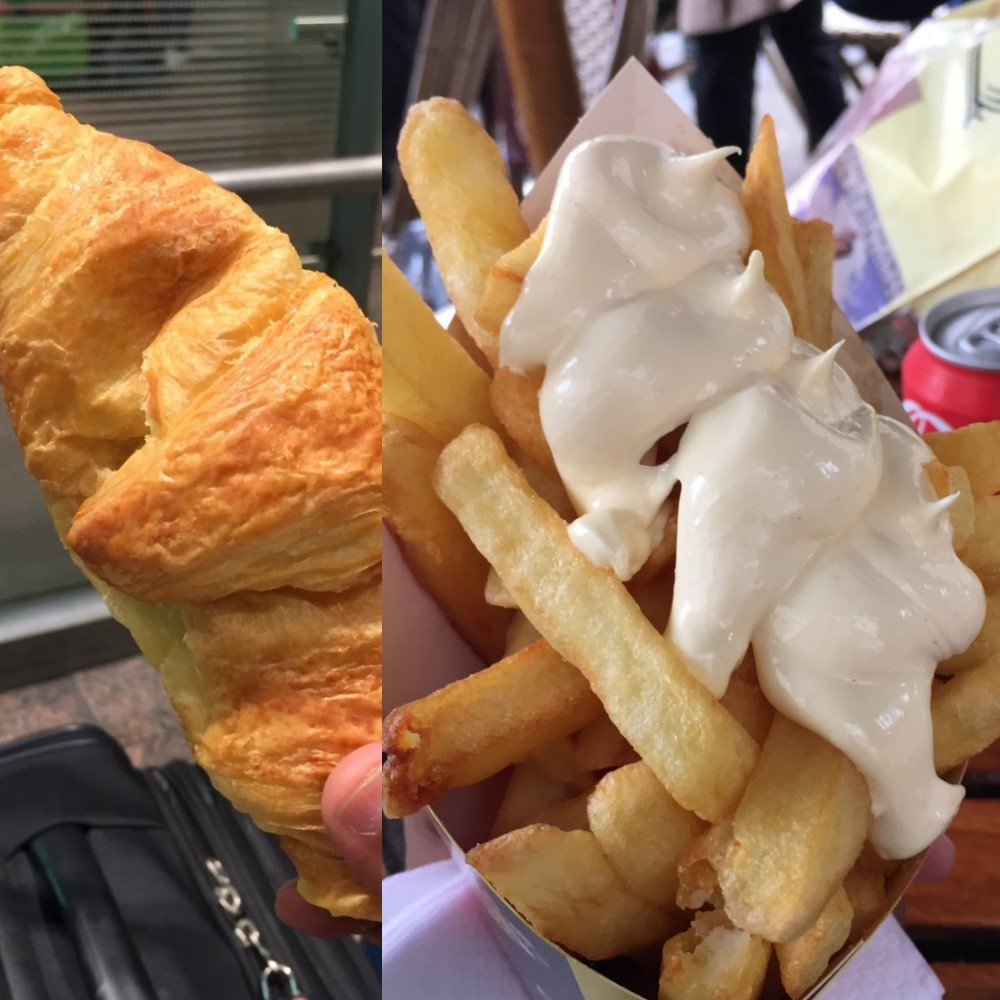 Although Fries could be a bit messy, but they along with Croissant make for excellent quick travel food for those long train journeys  between countries.