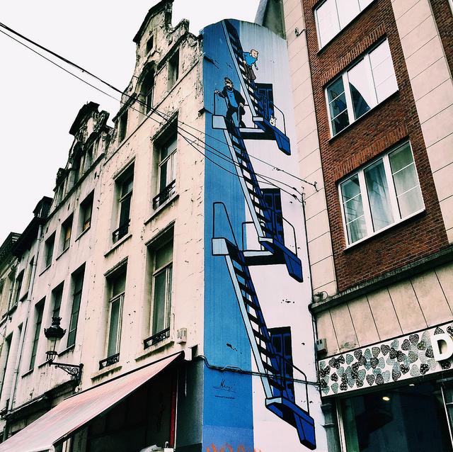 TinTin street art Brussels