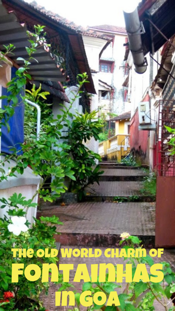 The Old World Charm of Fontainhas in Goa, India #India #Goa #Houses