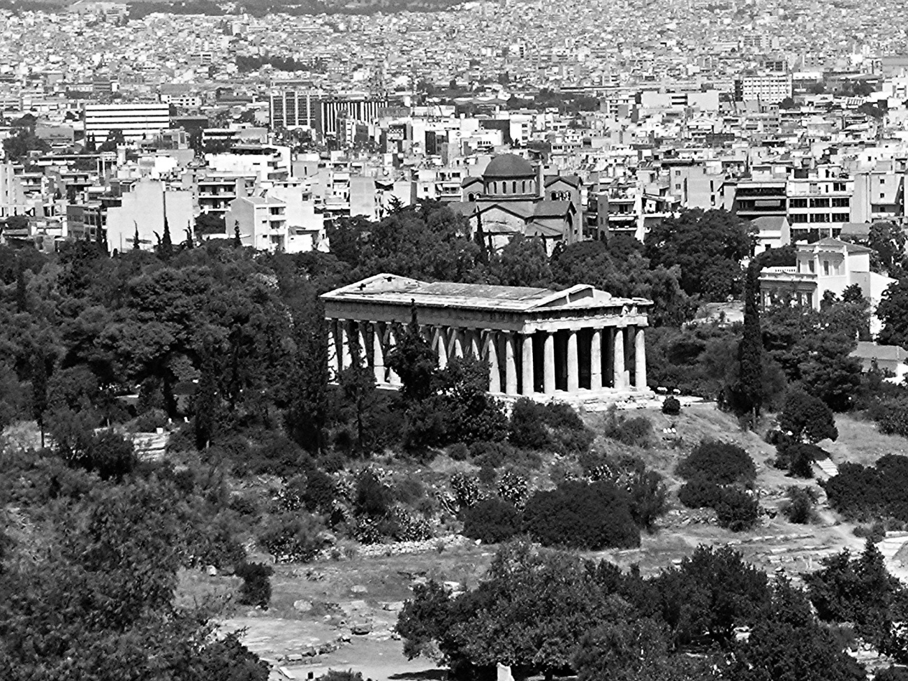Athens in Black and White