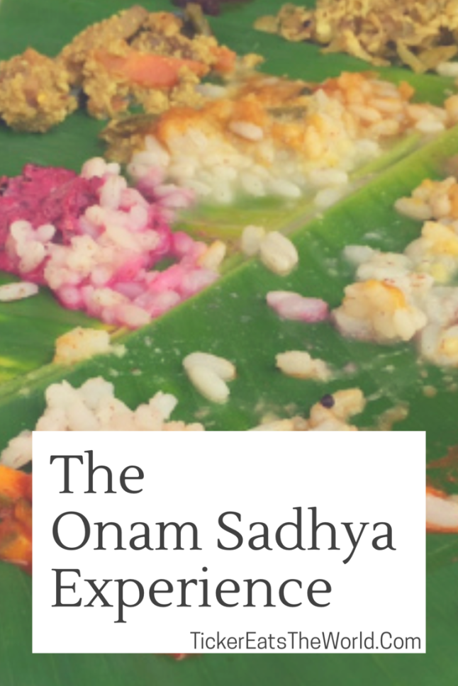 Food - The Onam Sadhya Experience