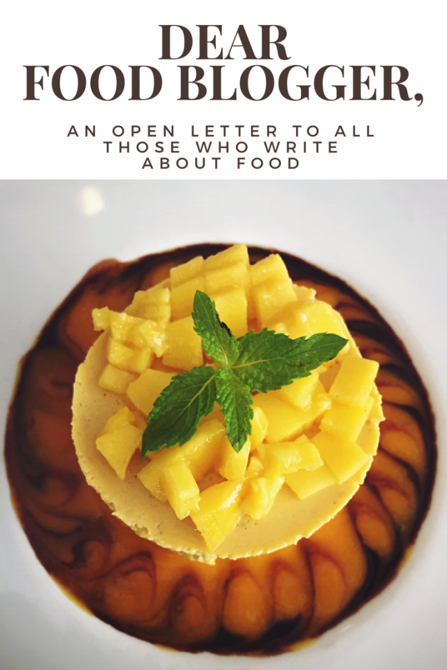 Dear Food Blogger, - An Open Letter (1)