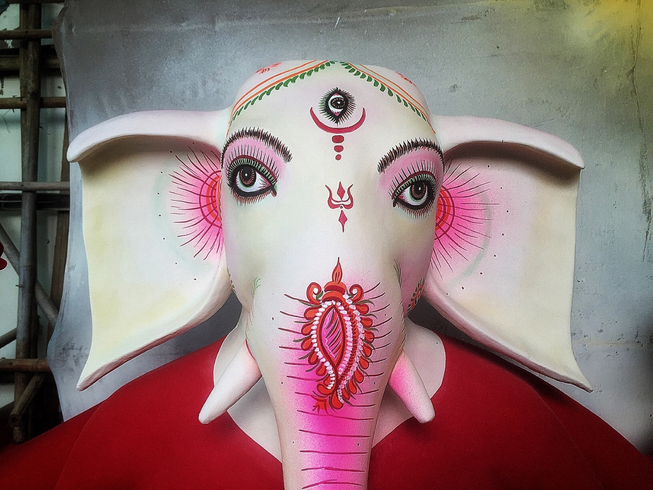 Ganesha - Almost ready for Durga Puja