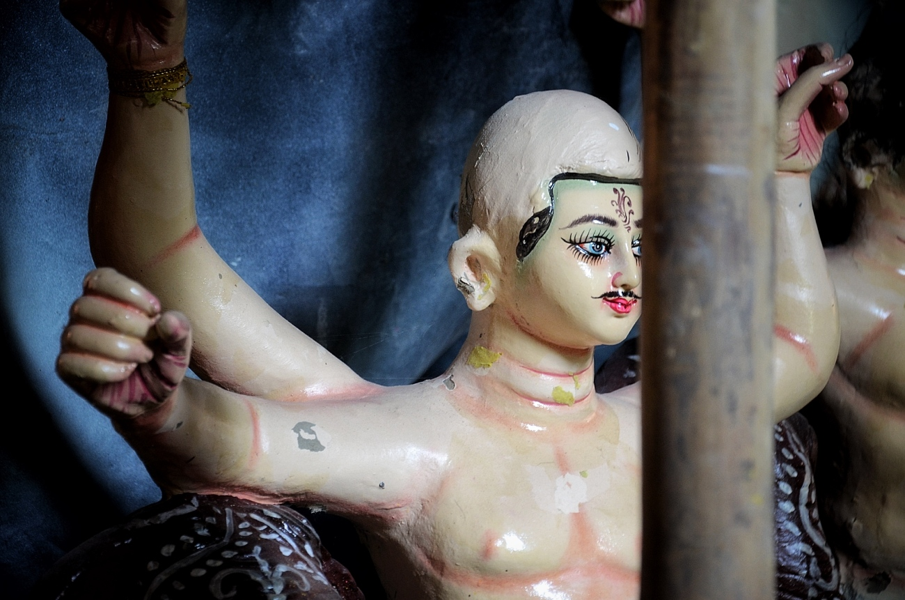Idols for Durga Puja in New Delhi