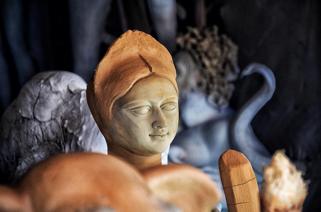 Durga Puja idol - New Delhi