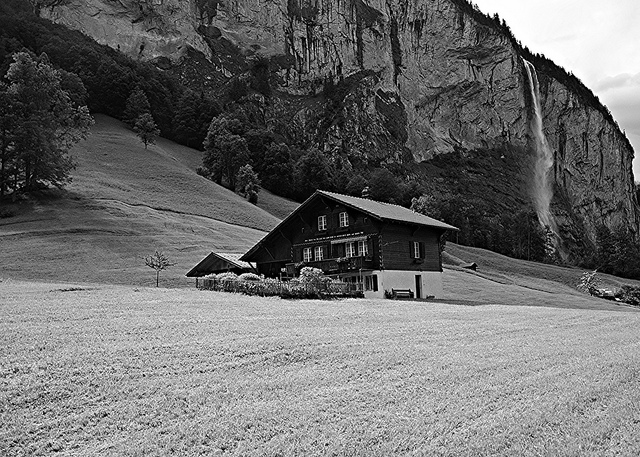 Lauterbrunnen in Black and White