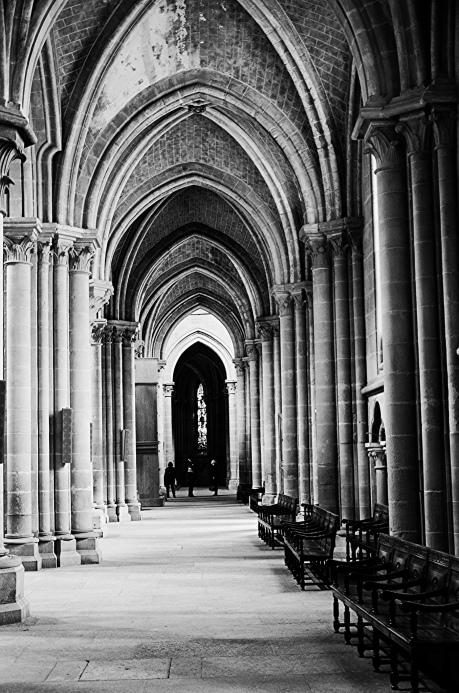 Lausanne Cathedral B&W