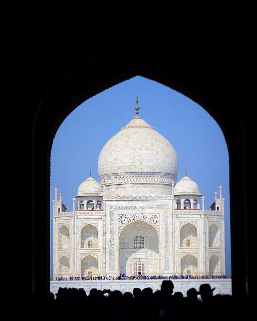 Taj Mahal - First look, when the beauty hits you slightly, but the grandness and delicate nature of it is still a walk away.