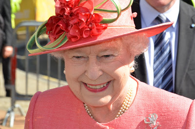 The Queen of England in Birmingham