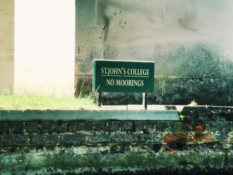 No Moorings, Cambridge
