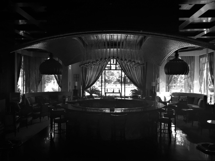 The Bar in Monochrome - ITC Rajputana