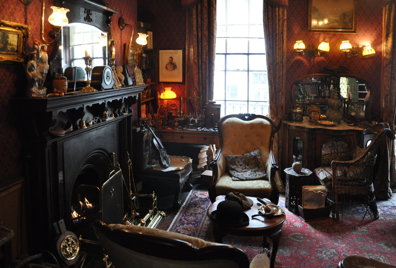 Wikimedia Commons - The Sherlock Holmes Museum - The Study