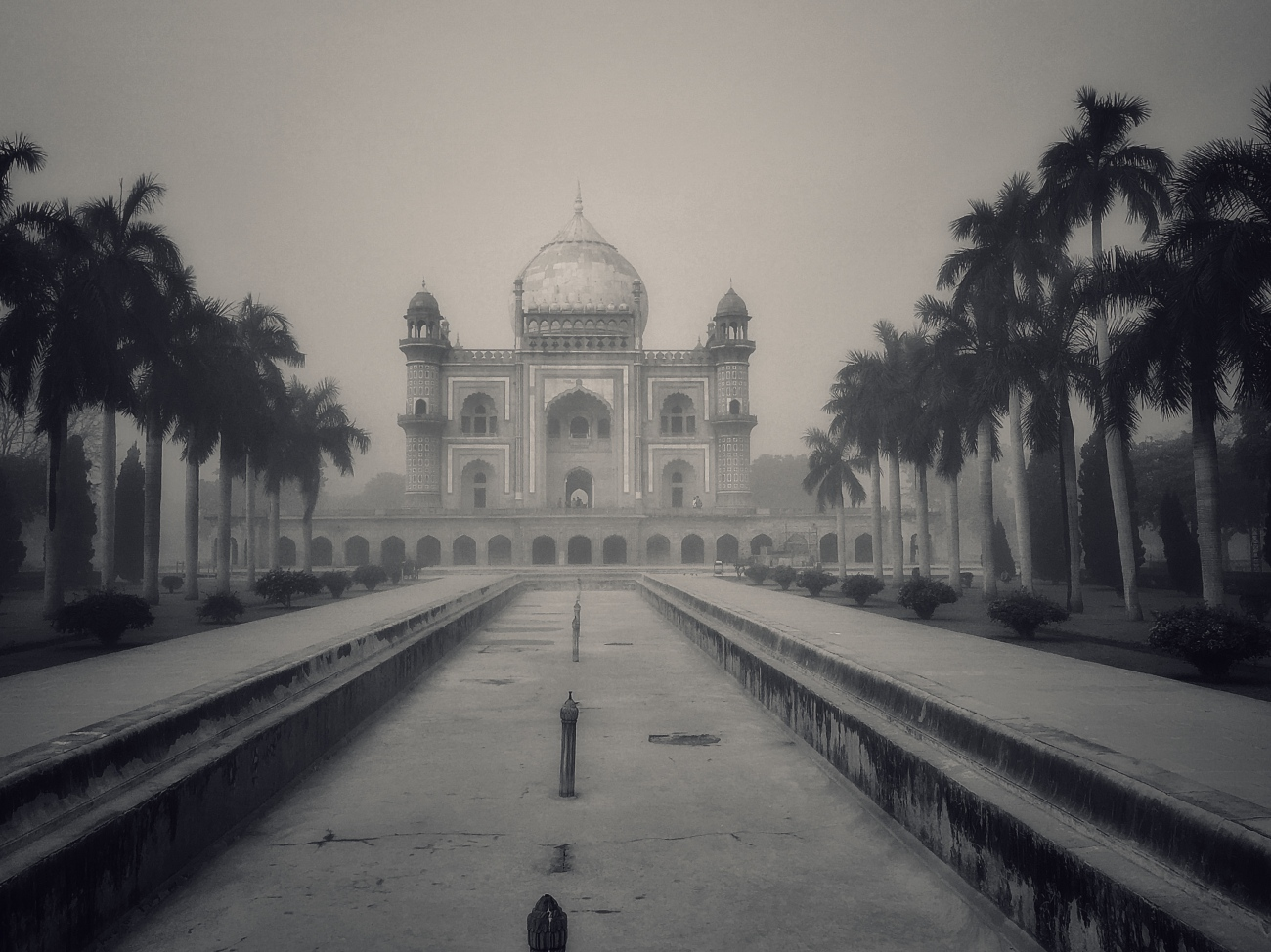 Safdarjung's Tomb on a Misty Morning