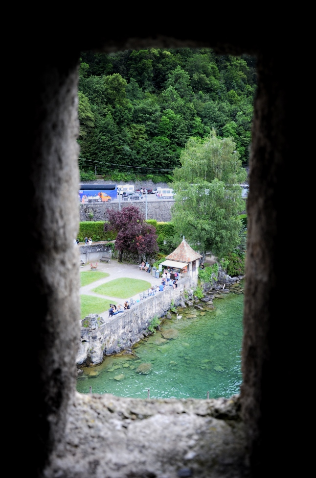 Views from the Tower t Chateau de Chillon