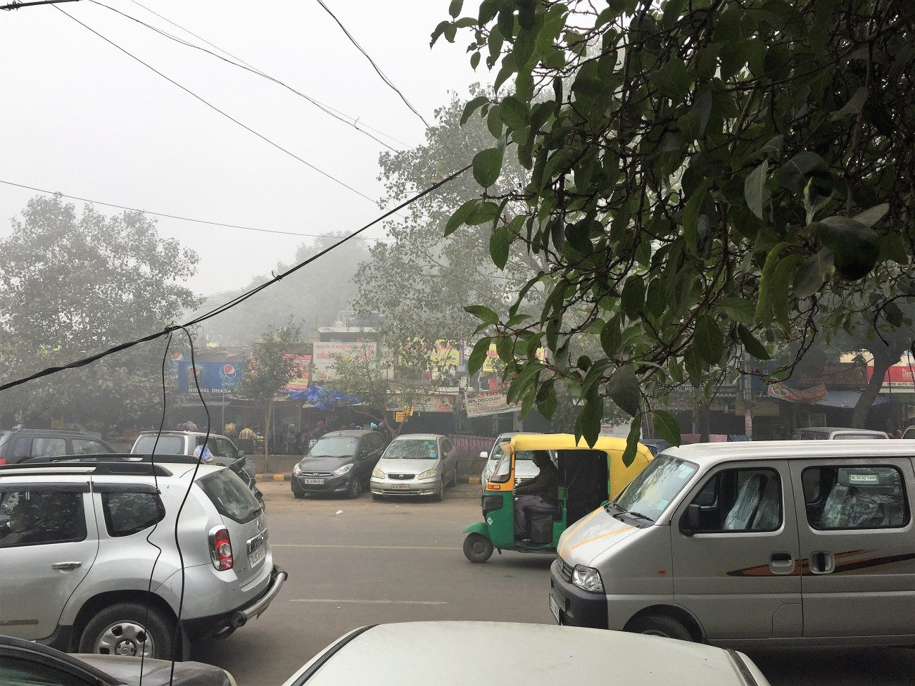 Morning Traffic at Sarojini Nagar Mini Market