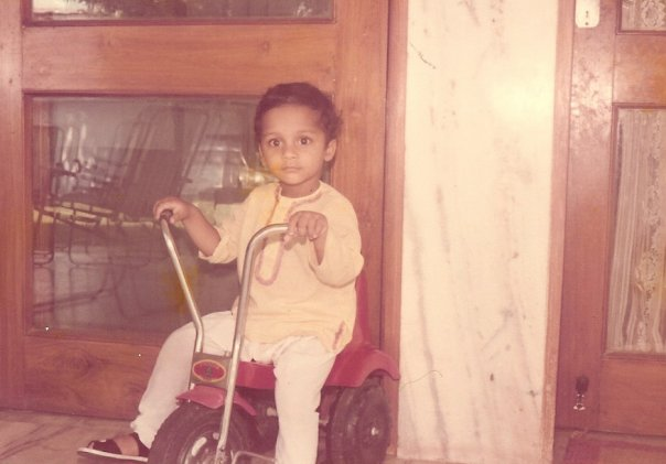 The Biker- At my Grandparent's House in Panipat
