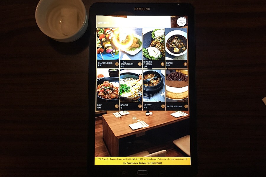 Menu on a Tablet - Hahn's Kitchen
