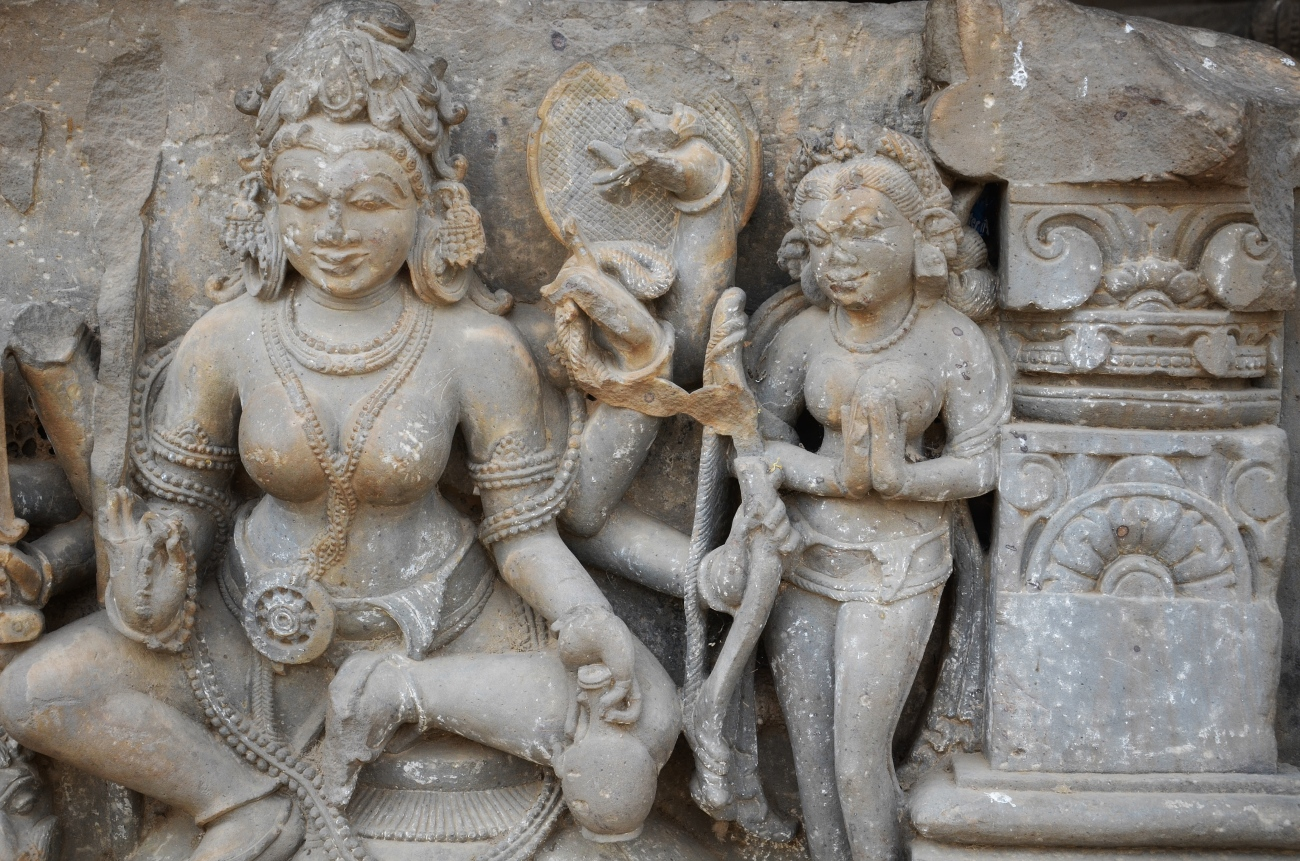 Sculptures at Chand Baori, Rajasthan