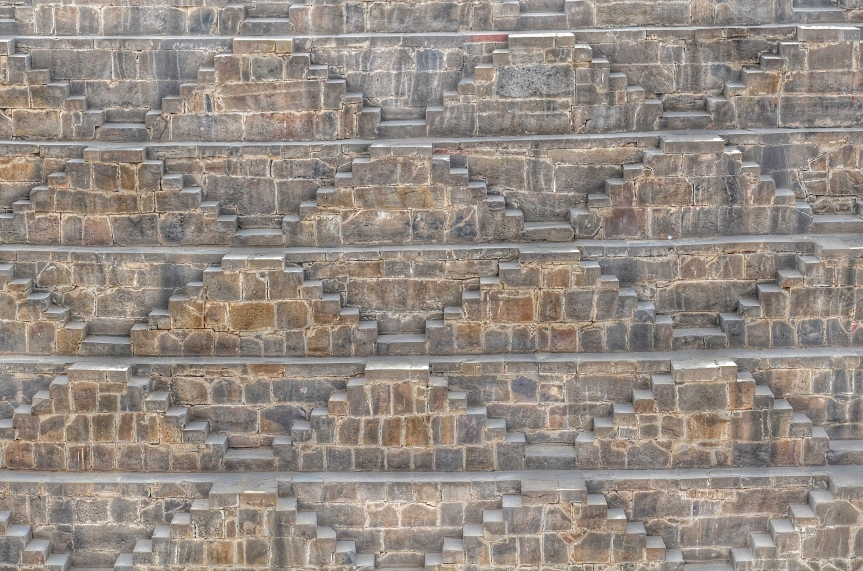 Stare into the Shape - Chand Baori (Stepwell), Rajasthan