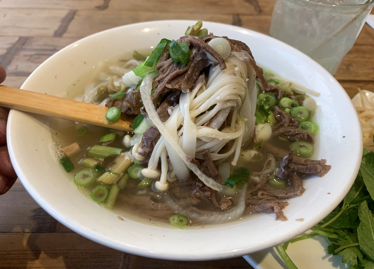Brisket and Mushrooms in a Pho