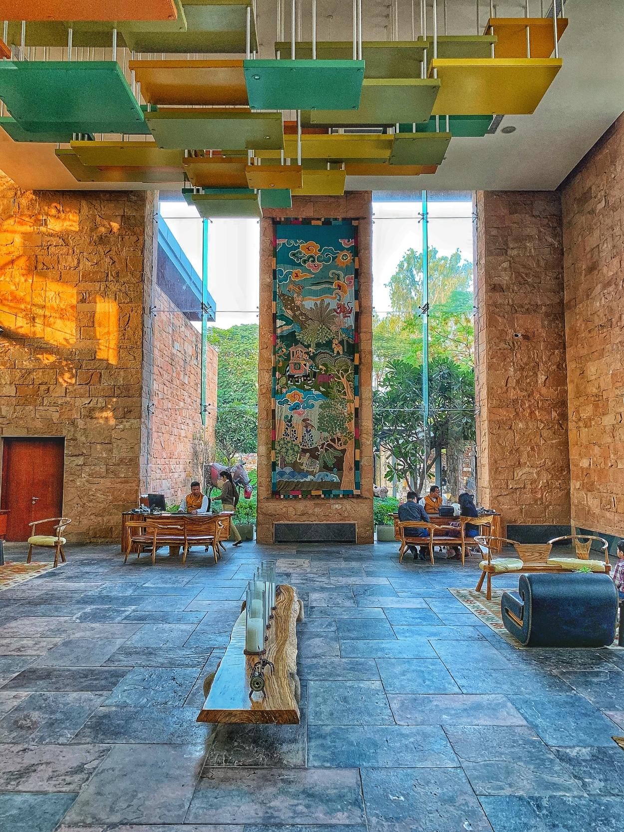 Lobby at Taj Hotel Damdama