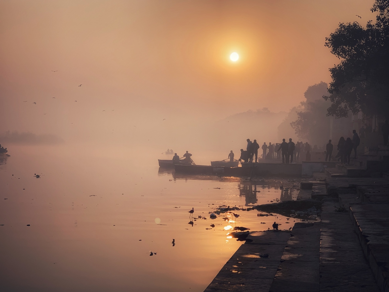 Misty Mornings at the Yamuna Ghaat