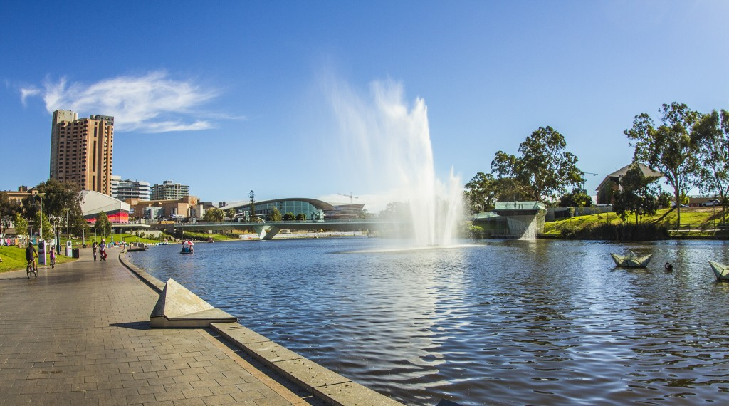 river torrens by day in adelaide
