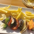 tapas – pinchito de verduras – vegetable skewer