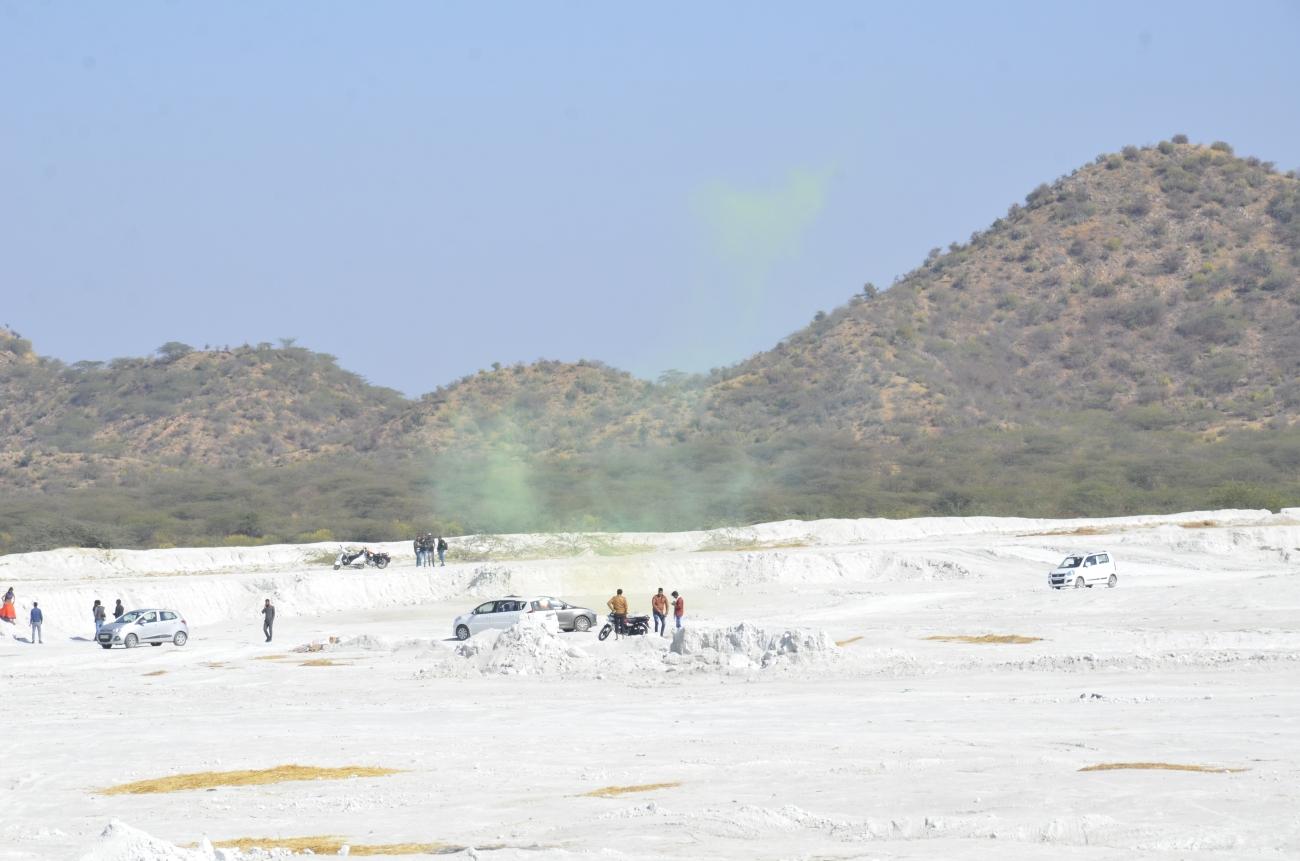 Photo-shoot in progress - Kishangarh Marble Dumping Yard