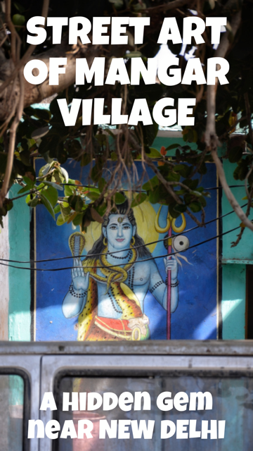 Street Art of Mangar Village - A Hidden Gem Near New Delhi #Travel #StreetArt #India
