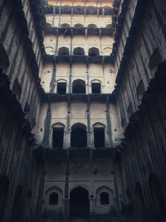 tall, from the bottom up - neemrana deep stepwell