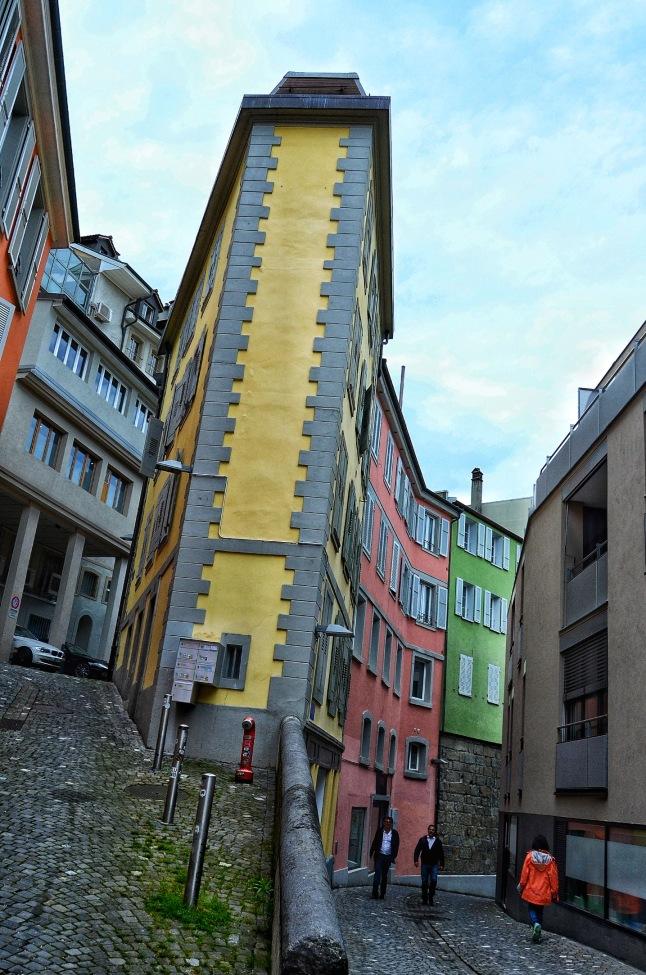 A random street in Lausanne