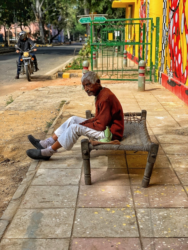 A Relaxing Day in the Sun - Lodi Art District, New Delhi