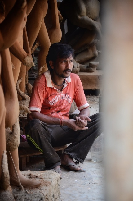 An artisan from Kolkata in New Delhi
