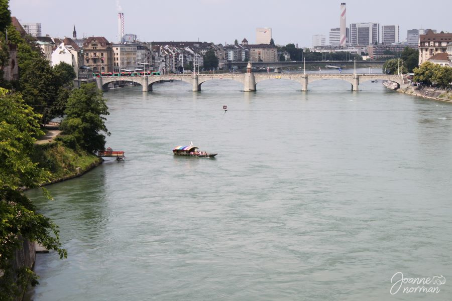 Basel Mittlere Brucke with fahre