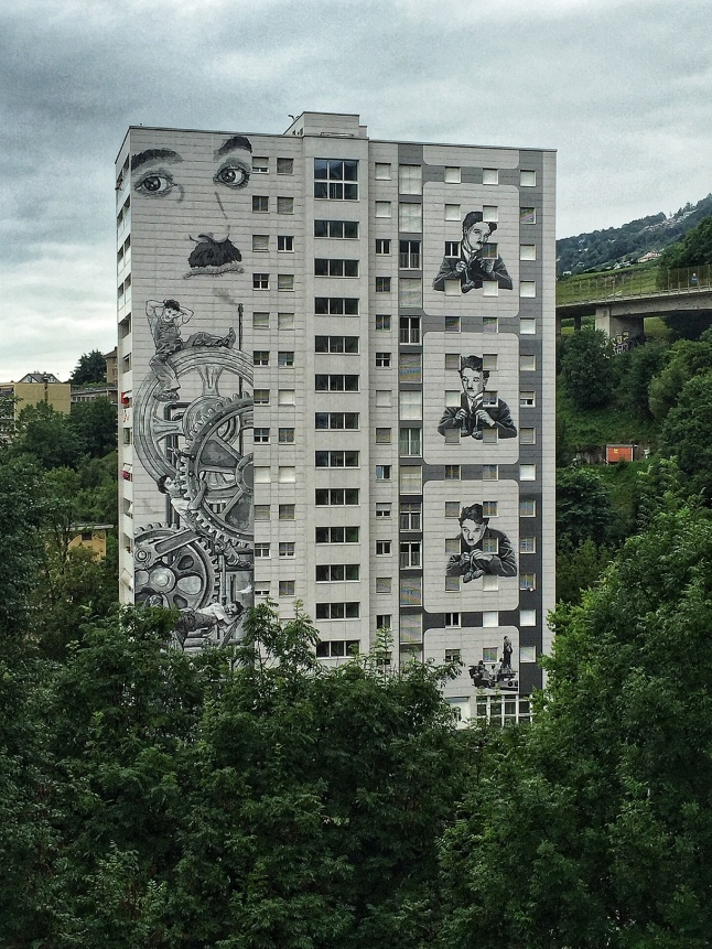 Chaplin on a Residential Complex - Vevey, Switzerland