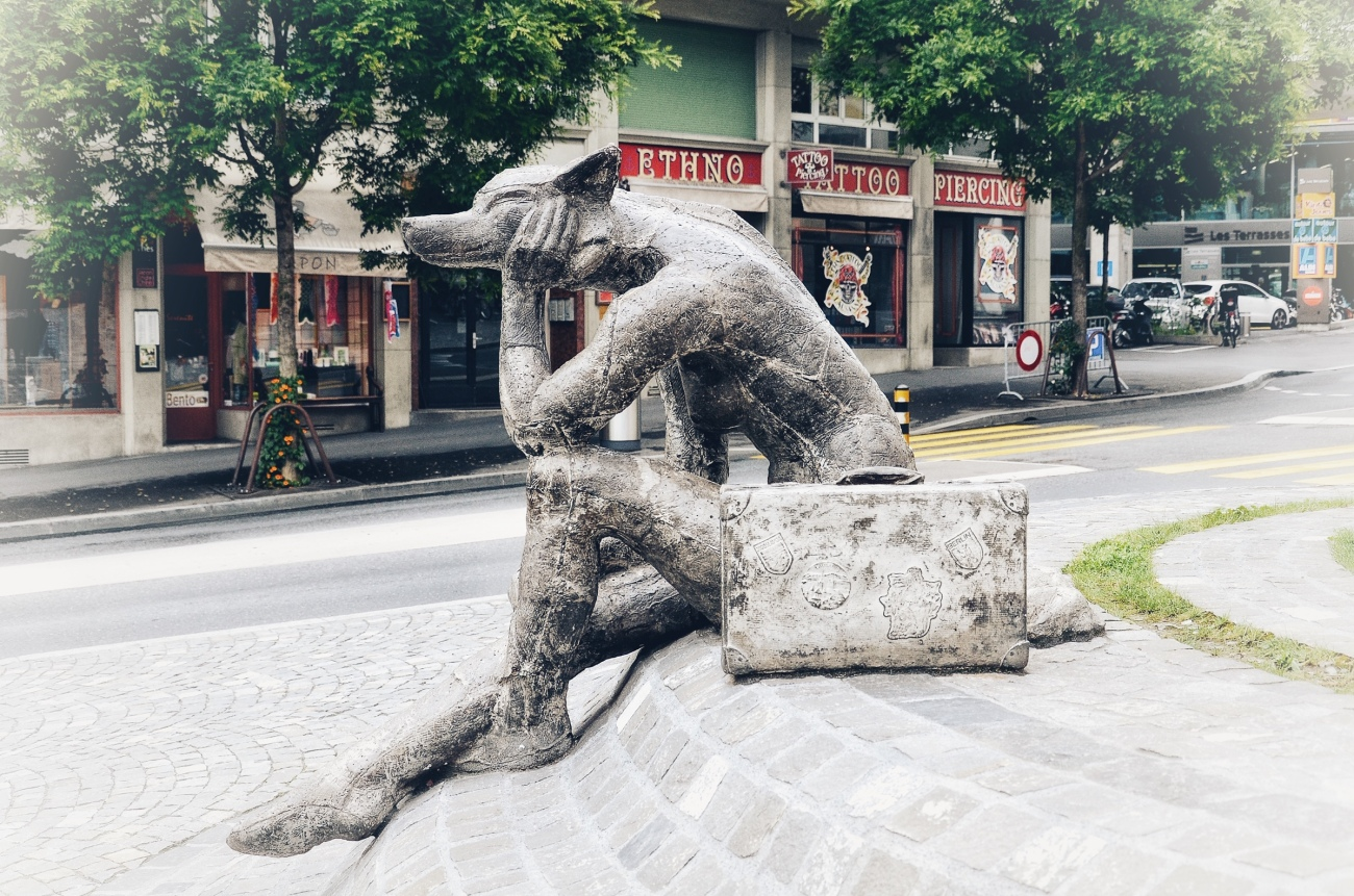 Lausanne, Switzerland - Street Sculpture