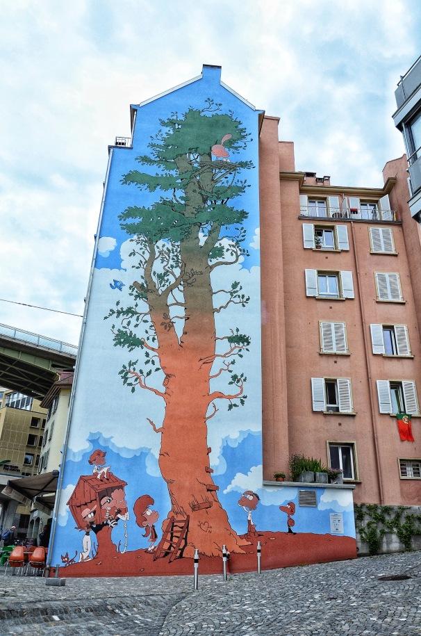 Street Art in Lausanne, Switzerland