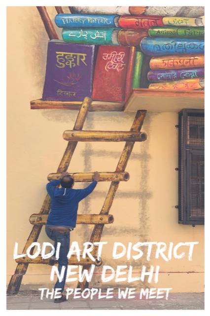 Street Art in New Delhi - The People We Meet #Travel #Art #India #StreetArt
