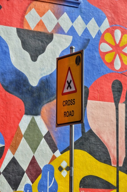 Street Signs and Art - The Perfect Mix