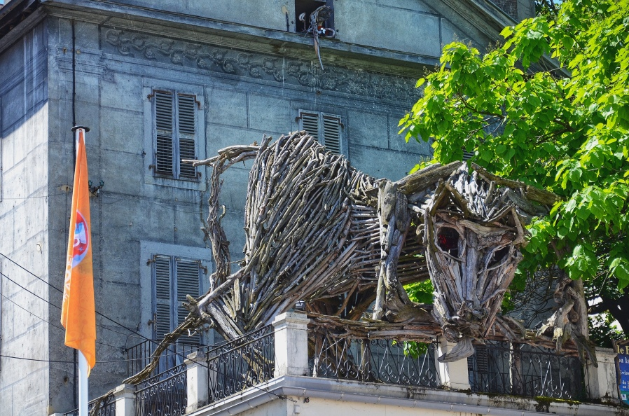 The Wooden Creature in Evian, France