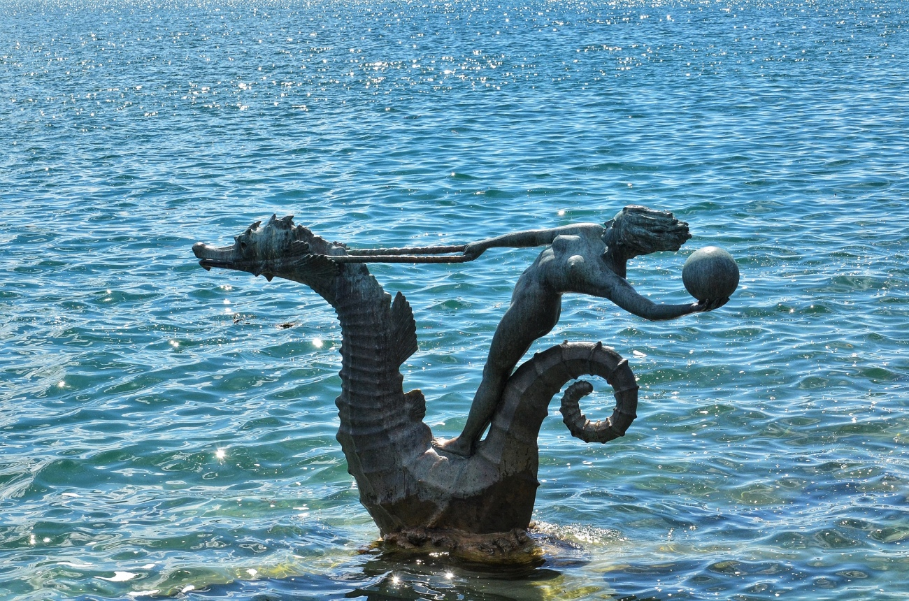 Water Sculpture in Vevey, Switzerland