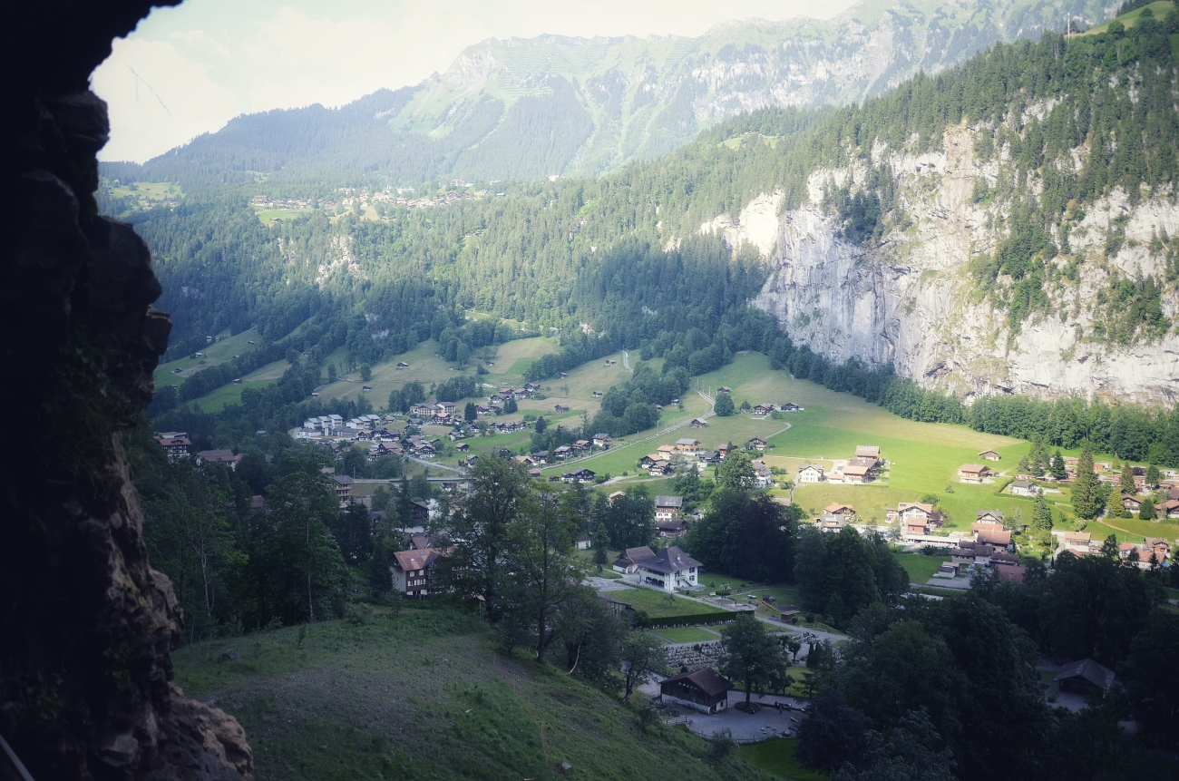 Lauterbrunnen as Seen from Staubbach Fall