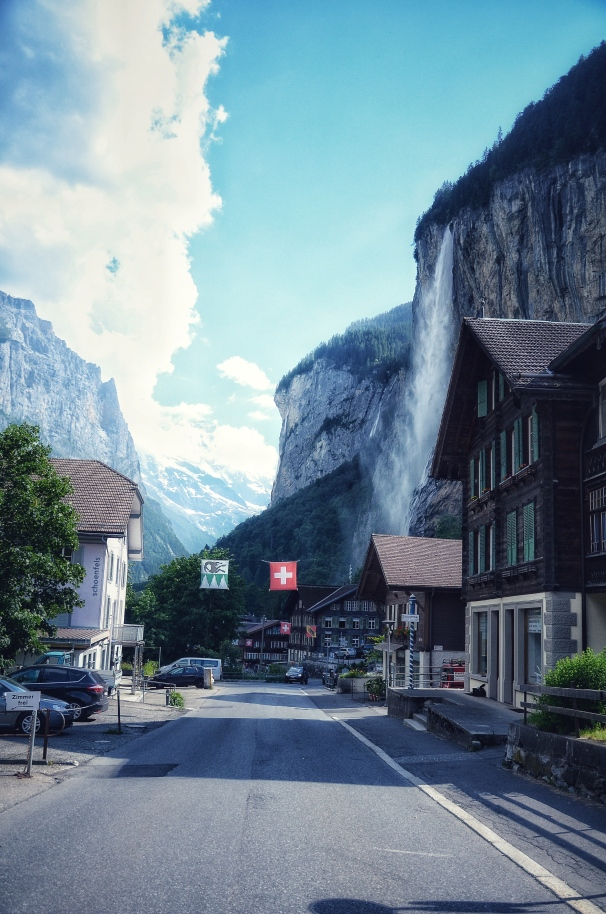 The Iconic Staubbach Fall, Lauterbrunnen, Switzerland