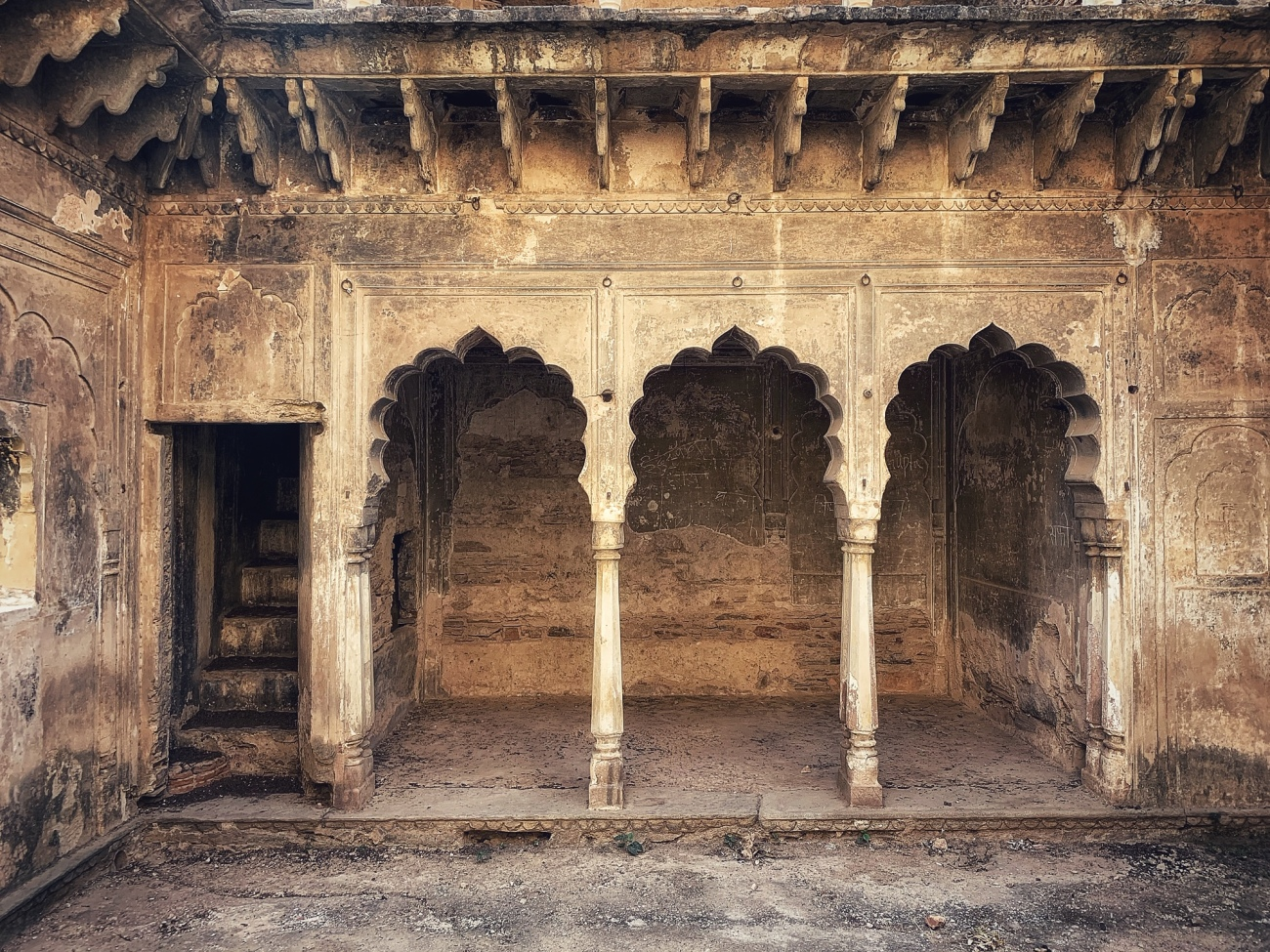 Arches and Stairways - Qila Tatarpur