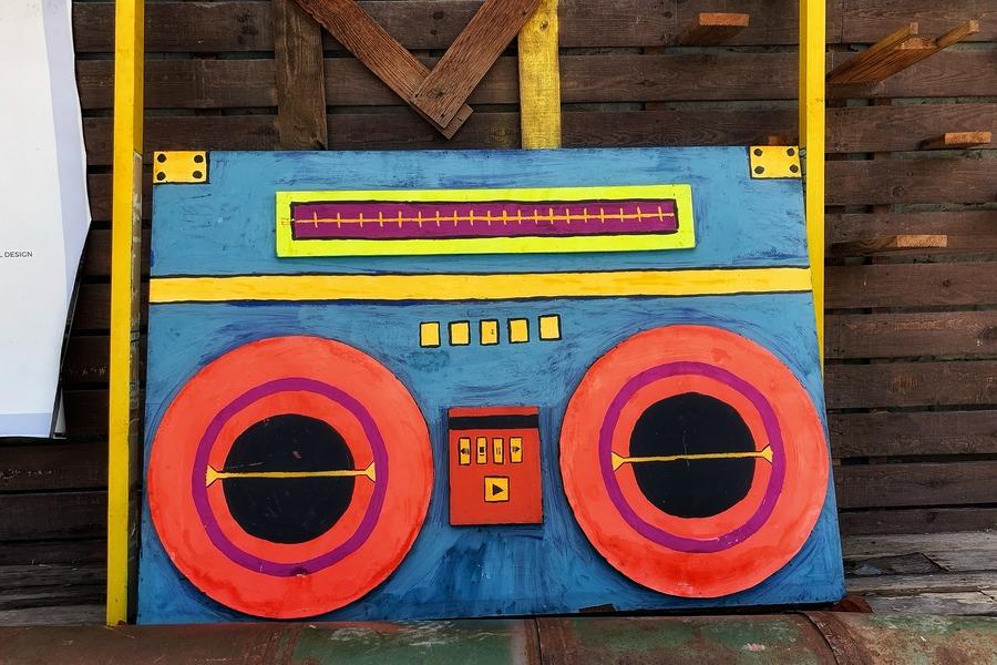 Boombox - Street Art, Champa Gali, New Delhi