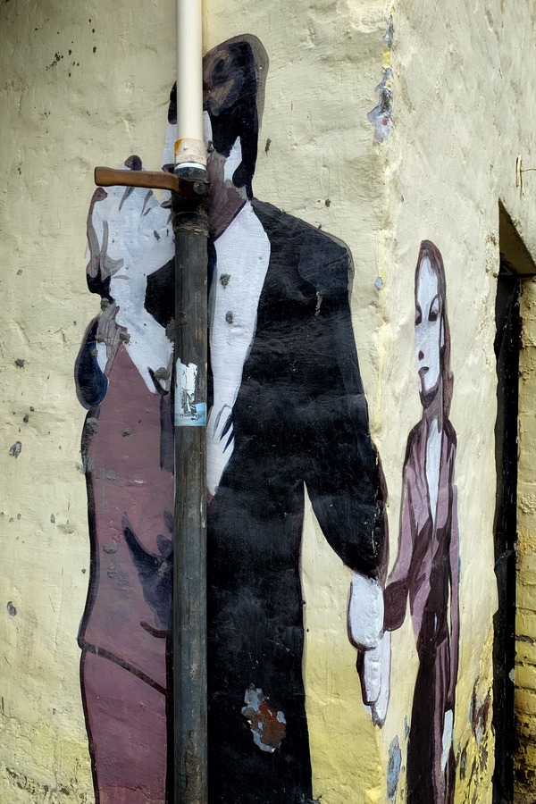Forbidden Love - Street Art at Champa Gali, New Delhi