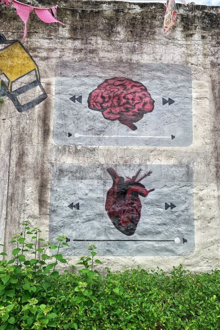 The Heart and the Mind - Street Art in Delhi 1