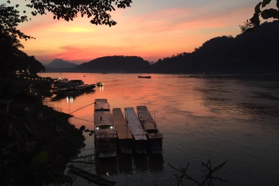 A beautiful sunset in Laos