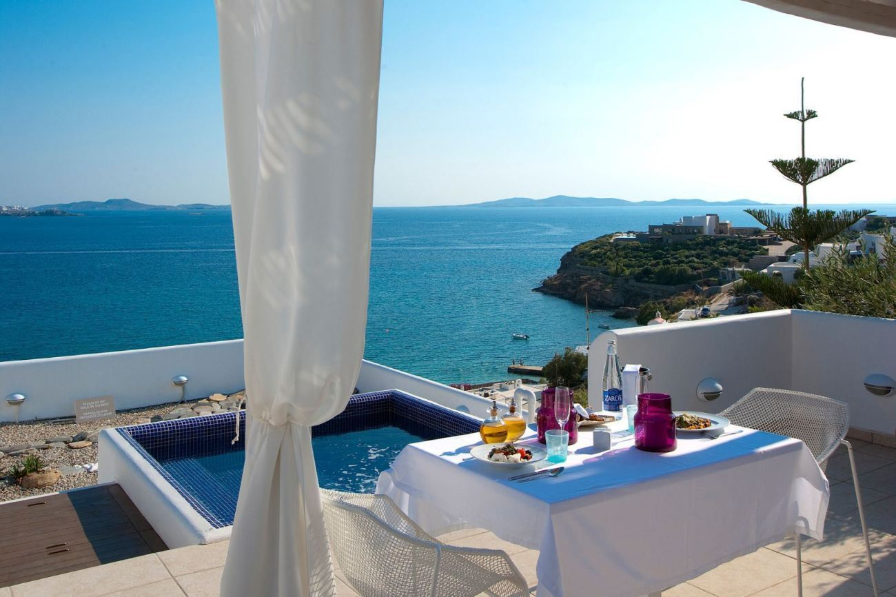 Balcony View at Grace Mykonos